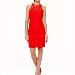 Red Lace J Crew Dress